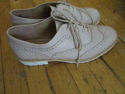 NEW!! PINK SADDLE SHOES SZ 10- PERFECT FOR EASTER!!  :))