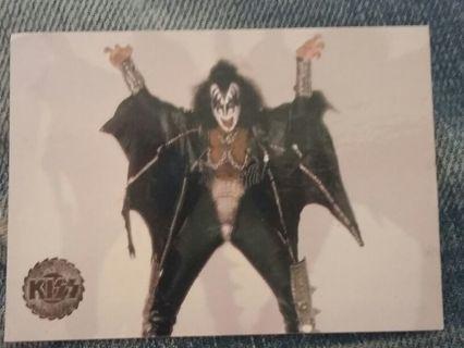 Gene Simmons trading card.