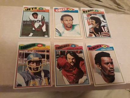1977 Topps football lot of 6