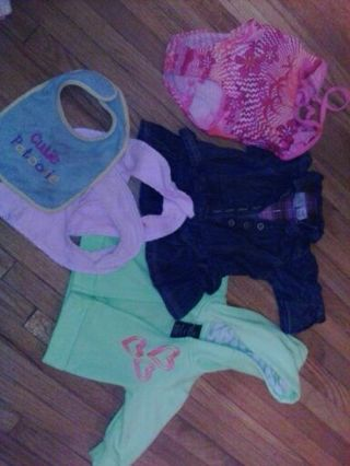 Small 0-3 month baby girl lot
