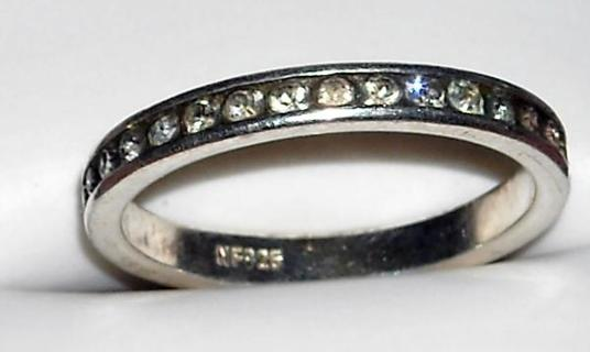 CZ Eternity Ring Marked 925