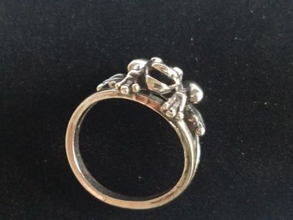 OTTO Sterling Silver Frog Ring...sz 7