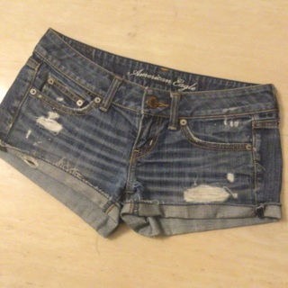 American Eagle distressed denim shorts size 0/ 26""