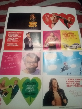 WWE COLLECTOR'S EDITION Valentine Cards OR Large POSTER