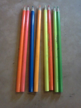 free 8 pack crayola neon colored pencils other craft items