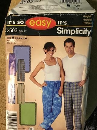 Pajamas pants pattern,vintage used
