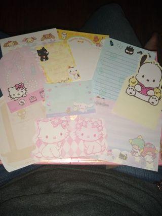 Kawaii Sanrio Character Memo Sampler + 10 Bonus Character Sticker Flakes