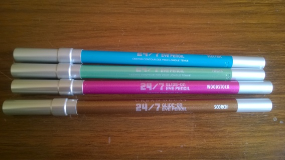 BNWB Urban Decay 24/7 Glide-On Eye Pencil, Full Size (4) colors to choose from,GIN for all + Bonus!!