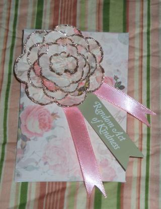 Set of 2 Handmade Random Act of Kindness Embellished Envelopes