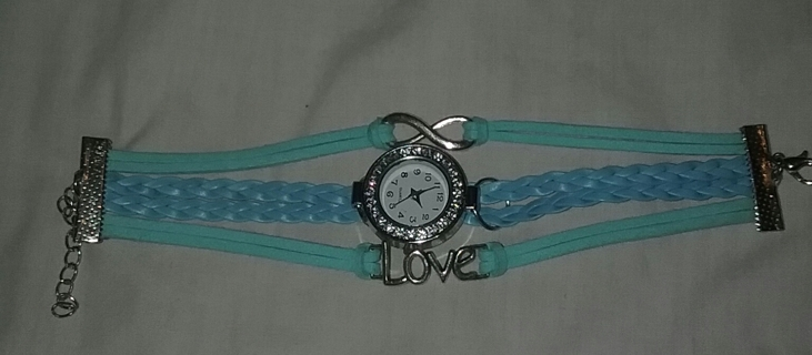 NEW Blue Charms & Bangles Bracelet Watch