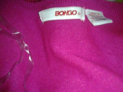Bongo Brand Junior's Size Large Pink Cardigan Sweater