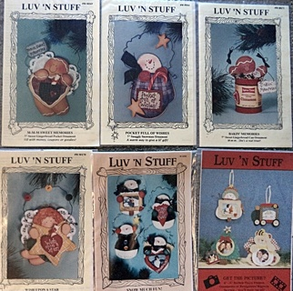 Lot of 6 Christmas Ornament  Painting  Patterns