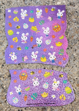 EASTER SPARKLE STICKERS 2 SHEETS  LOT 3