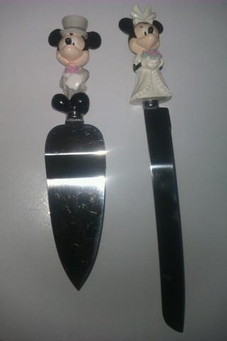 Free Wedding Disney Cake Knife Mickey Minnie Set Other