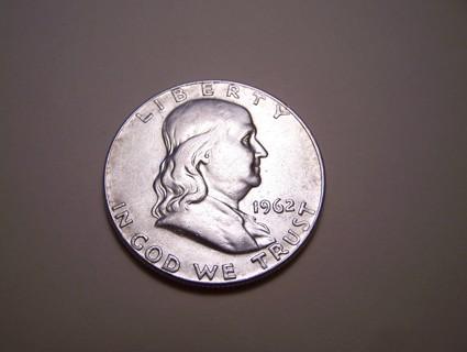 AU-BU 1962-D Benjamin Franklin Half Dollar