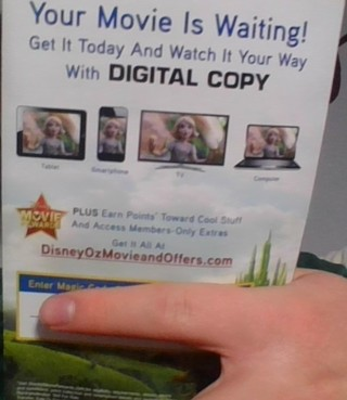 Oz The Great And Powerful Digital Code