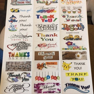 Assorted thank you labels