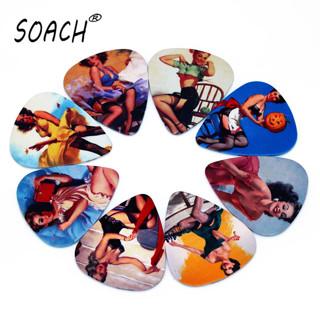 SOACH 10pcs 0.71mm guitar picks high quality two side earrings pick DIY design guitar accessries