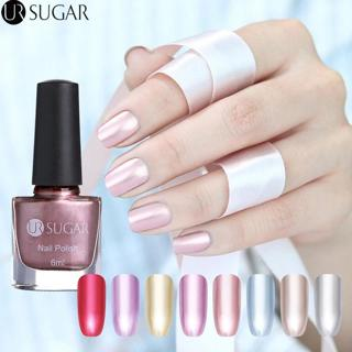 UR SUGAR 6ml Metallic Nail Polish Mirror Effect Lacquer Rose Gold Silver Shiny Metal Nail Varnish
