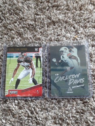 Carlton Davis rc lot Buccaneers