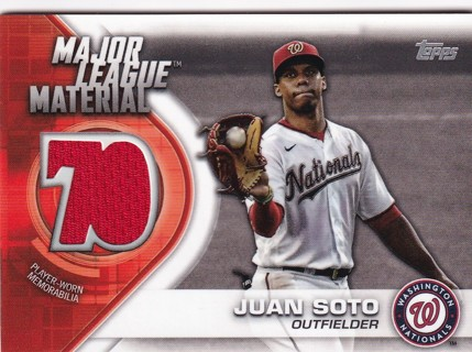 Game Used Jersey Juan Soto Washington Nationals
