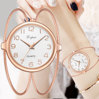 Lvpai® Women Fashion Luxury Watch Bracelet Quartz Dress Watches Rose Gold Small