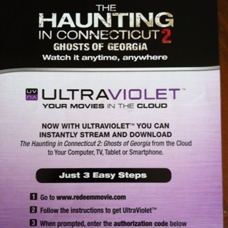 Free: The Haunting in Connecticut 2 Ultraviolet Code Only - Other