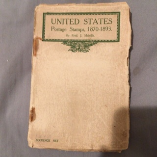 Extremely rare antique guidebook of United States stamps 1870 to 1893!!!