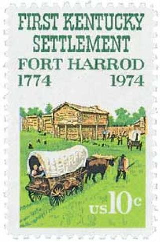 Mint US stamp 'First Kentucky Settlement'