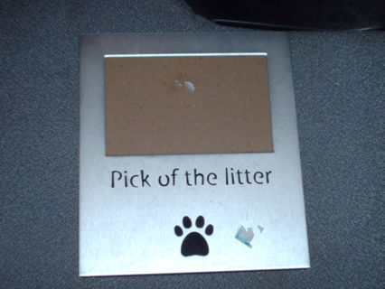 Free: PICK OF THE LITTER METAL PICTURE FRAME - Other Cameras Items ...