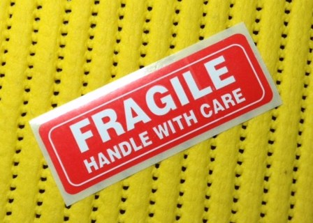 60 FRAGILE Stickers
