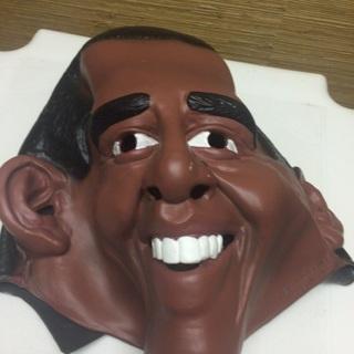 Obama  Halloween Costume MASK...last time listed