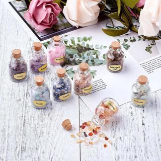 NEW Mini Birthstone Wishing Bottles Amulets Tumbled Wicca Stone Healing Reiki Crystals FREE SHIPPING
