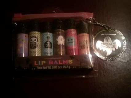 DON'S DAILY DEAL. BRAND NEW. SET OF 6 LIP BALMS..