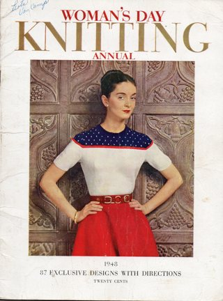 Vintage Craft Book: 1948 Woman's Day Knitting Annual