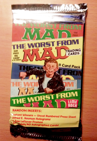NEW MAD MAGAZINE BOOSTER PACK 1992 MAD MAGAZINE Trading Cards Alfred E. Neuman