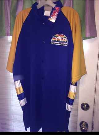 BNWT CLASSIC AUTHENTIC NBA DENVER NUGGETS THROWBACK