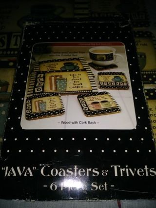 "⚛✨⚛✨⚛BRAND NEW 5 PIECE ""JAVA"" COASTERS & TRIVETS SET⚛✨⚛✨⚛"