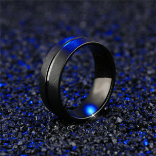 Stainless steel titanium band ring