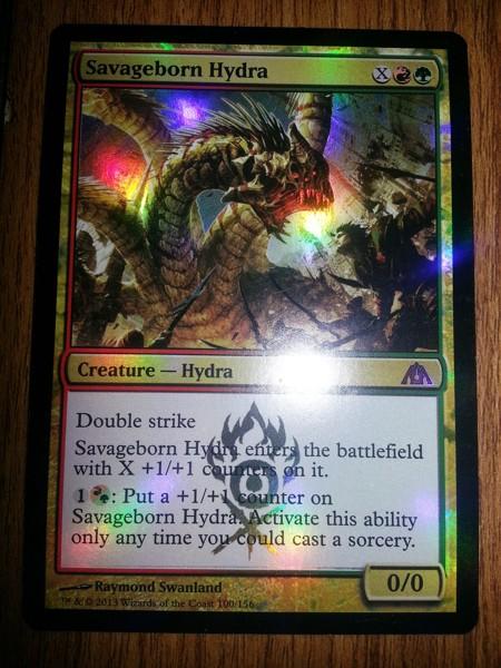 Free Foil Savageborn Hydra Mythic Rare Dragon S Maze