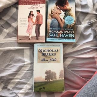 Nicholas Sparks Books (free shipping)