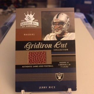 2003 Gridiron Kings Jerry Rice Gridiron Cut Collection Game-Used Football Card