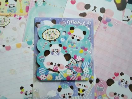 "Kawaii ~ Qlia ""Marchen Friends"" Sticker Sack & 8 Rare, Matched, Lg. Memo Sheets ☆Kawaii Bonus☆"