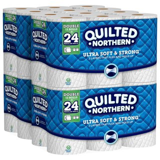 ☺Quilted Northern Ultra Soft & Strong Toilet Paper with CleanStretch 48 Double Rolls = 96 Rolls☺