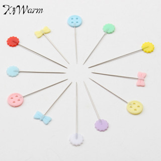 100Pcs/Box Mixed Colors Sewing Patchwork Pins Flower Head Pins Dressmaking Sewing Tool