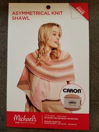 Asymmetrical Knit Shawl
