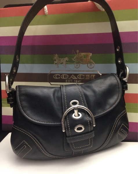 Free Coach Soho Small Black Leather Shoulder Bag With Silver Hardware A Condition Handbags Listia Auctions For Stuff
