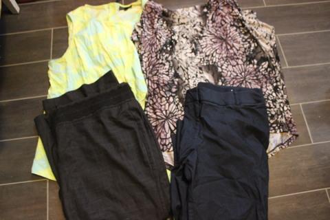 Women's Plus Size Clothes Lot Summer Tops Casual Pants Size 3X Tops Lane Bryant Pants Size 24 L , 24