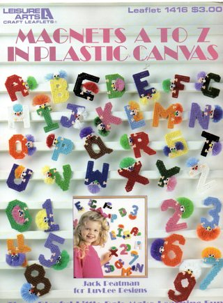 Leisure Arts Magnets A to Z in Plastic Canvas