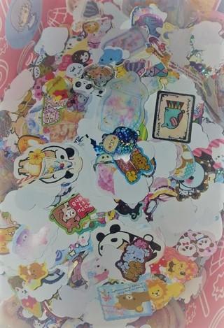 Huge Kawaii Grabbag!! Mini Memos & Sticker Flakes!!  Huge Lot!